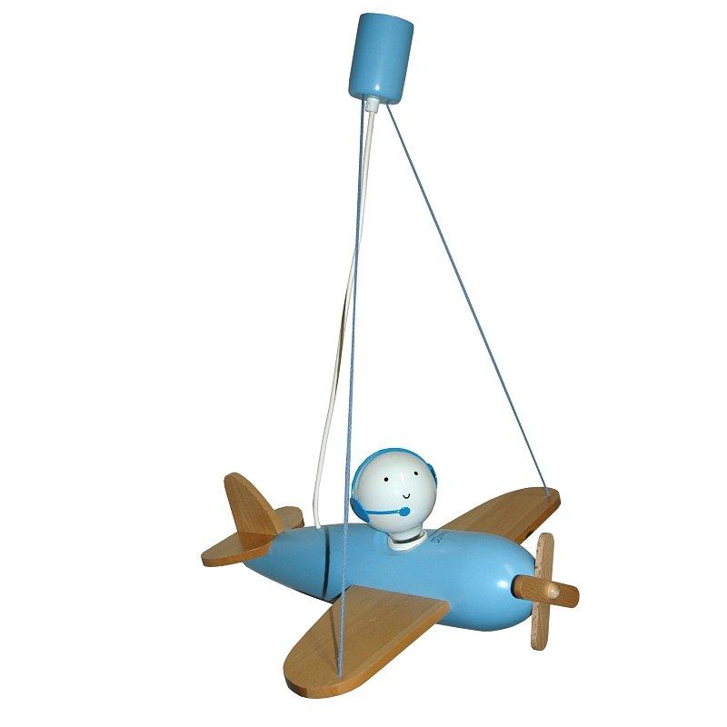 Pendelleuchte Flugzeug Piccolo 1-flg. hellblau