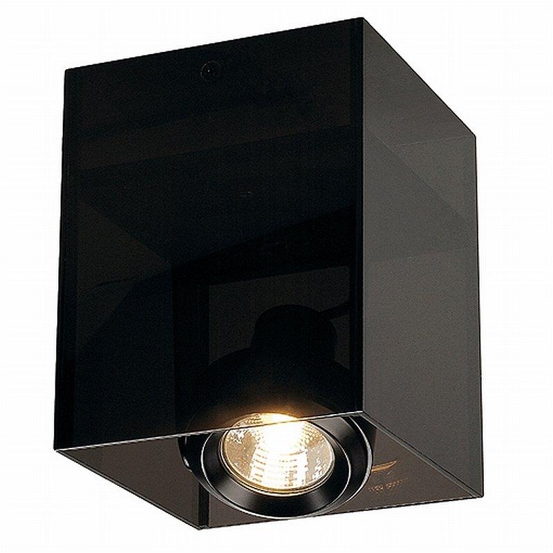 ACRYLBOX 1er GU10, schwarz/transluzent